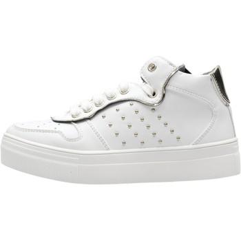 Chaussures Garçon Baskets montantes 4Us Paciotti - Sneaker bianco 4U-062 BIANCO