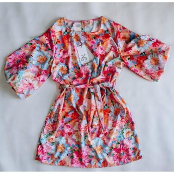 Vêtements Femme Robes courtes Made In Italia Robe Flowers Pink Multicolore