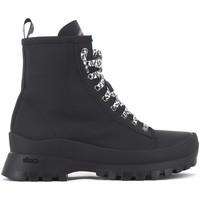 Chaussures Femme Boots P448 Denise gomme noire blanc Blanc
