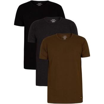 Vêtements Homme T-shirts manches courtes Lyle & Scott Lot de 3 t-shirts Lounge Maxwell multicolore