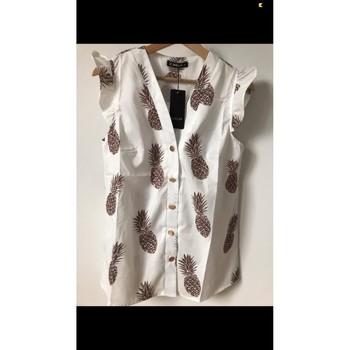 Vêtements Femme Tops / Blouses Sheilay Blouse blanche à motifs Blanc