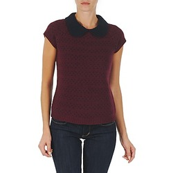 Vêtements Femme Pulls Manoush TOP CROCHET CŒUR Bordeaux