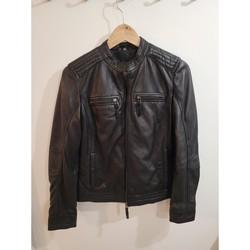 Vêtements Femme Vestes en cuir / synthétiques Autre Vest en cuir neuf sans étiquette Noir