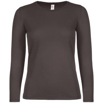 Vêtements Femme T-shirts manches longues B And C TW06T Marron