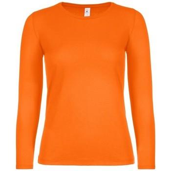 Vêtements Femme T-shirts manches longues B And C TW06T Orange