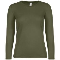 Vêtements Femme T-shirts manches longues B And C TW06T Kaki