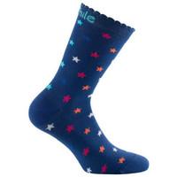 Accessoires Femme Chaussettes Achile Socquettes STARS en coton Bleu