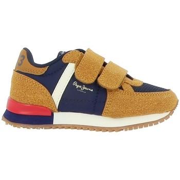 Chaussures Garçon Baskets mode Pepe jeans SYDNEY COMBI BOY KIDS Marron