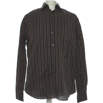Vêtements Homme Chemises manches longues Celio Chemise Manches Longues  40 - T3 - L Marron