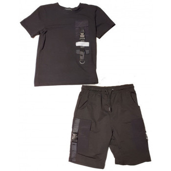 Vêtements Enfant Maillots / Shorts de bain Boom Kids ensemble junior short et Tee shirt BL-62 NOIR Noir