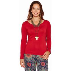Vêtements Femme T-shirts manches longues Haut Large Oasis T-shirt Lilas ROUGE