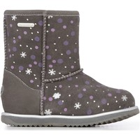 Chaussures Enfant Claquettes EMU Snow Brumby Charcoal