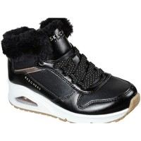 Chaussures Enfant Baskets montantes Skechers Uno Cozy ON Air Noir