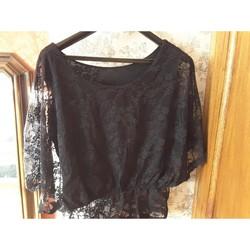 Vêtements Femme Tuniques Autre Tunique dentelle noire Noir