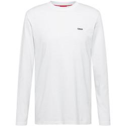 Vêtements Homme T-shirts manches longues BOSS T-shirt à manches longues  Derol212 blanc Blanc