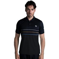 Vêtements Homme Polos manches courtes Sergio Tacchini Polo  Amarillis Noir Noir