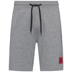 Vêtements Homme Shorts / Bermudas BOSS Short  Boss Diz212 en coton avec étiquette logo Gris Gris