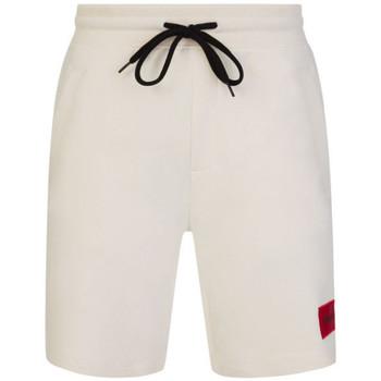 Vêtements Homme Shorts / Bermudas BOSS Short  Diz212 Relaxed Fit en coton beige Beige