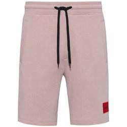 Vêtements Homme Shorts / Bermudas BOSS Short  Diz212 Relaxed Fit en coton rose clair Rose Pale