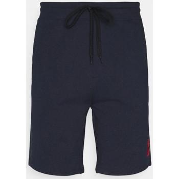 Vêtements Homme Shorts / Bermudas BOSS Short  Diz212 Relaxed Fit en coton bleu marine Bleu Marine