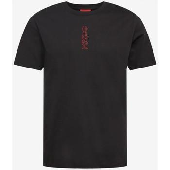 Vêtements Homme T-shirts manches courtes BOSS T-shirt  Durned213 noir/rouge Noir