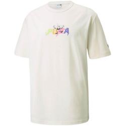 Vêtements Homme T-shirts manches courtes Puma T-Shirt  Downtown Graphic Beige Beige