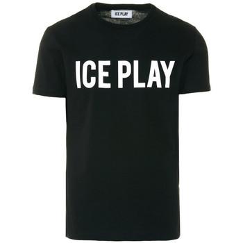 Vêtements T-shirts manches courtes Ice Play T-SHIRT  UOMO Noir et blanc