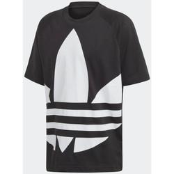 Vêtements Homme T-shirts manches courtes adidas Originals T-Shirt  BIG TREFOIL BOXY Noir et blanc