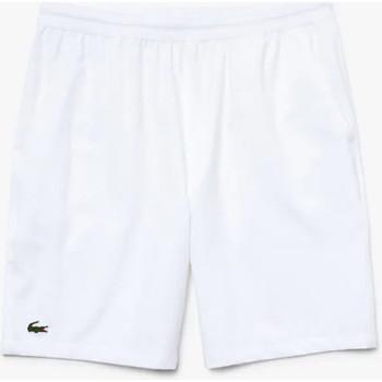 Vêtements Homme Shorts / Bermudas Lacoste Short Tennis  SPORT stretch uni blanc Blanc