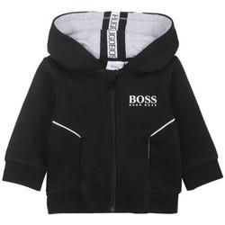 Vêtements Sweats BOSS Sweat zippé à capuche  noir pour bébé Noir