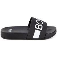 Chaussures Claquettes BOSS Sandales  junior Noir Noir