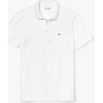 Vêtements Homme Polos manches courtes Lacoste Polo  slim fit en petit piqué stretch uni Blanc