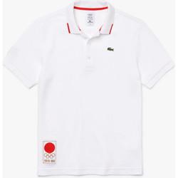 Vêtements Homme Polos manches courtes Lacoste Polo  Heritage Blanc Blanc