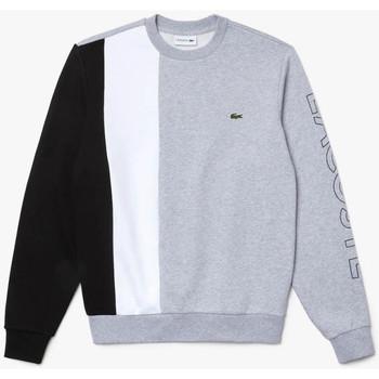 Vêtements Homme Sweats Lacoste Sweatshirt  à col rond en molleton color-block Gris