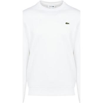 Vêtements Homme Sweats Lacoste Sweatshirt  SPORT Blanc en molleton de coton mélangé uni Blanc