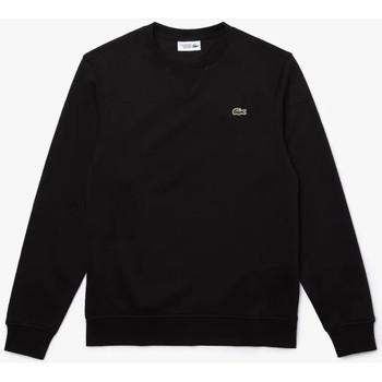 Vêtements Homme Sweats Lacoste Sweatshirt  SPORT en molleton de coton mélangé uni Noir