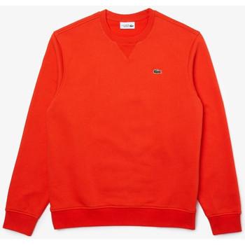 Vêtements Homme Sweats Lacoste Sweatshirt  SPORT en molleton de coton mélangé uni Orange
