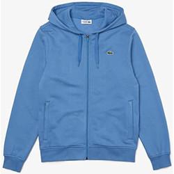 Vêtements Homme Sweats Lacoste Sweatshirt à capuche  SPORT léger bi-matière Bleu Bleu