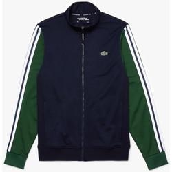 Vêtements Homme Vestes de survêtement Lacoste Sweatshirt zippé  SPORT en piqué technique bicolore Vert