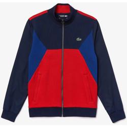 Vêtements Homme Sweats Lacoste Sweatshirt zippé Tennis  SPORT bi-matière color-block Bleu marine / Rouge