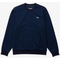 Vêtements Homme Sweats Lacoste Sweatshirt  Sport à col rond avec empiècements en mesh Bleu Marine