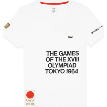 Vêtements Homme T-shirts & Polos Lacoste T-shirt  Olympique Blanc Blanc