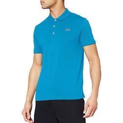 Vêtements Homme Polos manches courtes Lacoste Polo  Sport uni slim fit Bleu