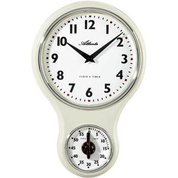 Maison & Déco Horloges Atlanta 6124/0, Quartz, White, Analogue, Classic Blanc