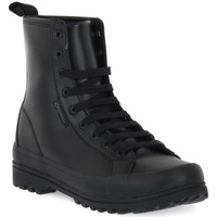 Chaussures Femme Boots Superga A0Z ALPINA VEGAN FAUX LEATHER LACED Nero