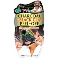 Accessoires textile Masques 7Th Heaven Peel-off  Charcoal + Black Clay Mask