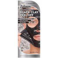Accessoires textile Masques 7Th Heaven For Men Black Clay Peel-off Mask 10 Ml