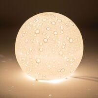 Maison & Déco Lampes à poser Amadeus Lampe à poser Lune de Porcelaine Blanc