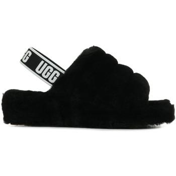 Chaussures Femme Chaussons UGG Fluff Yeah Slide noir