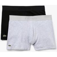 Sous-vêtements Homme Boxers Lacoste Lot de 2 Boxers Courts  Piqué L.12.12 Gris / Noir